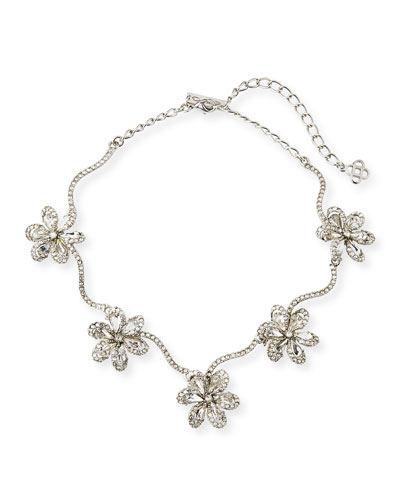 Crystal Delicate Flower Necklace