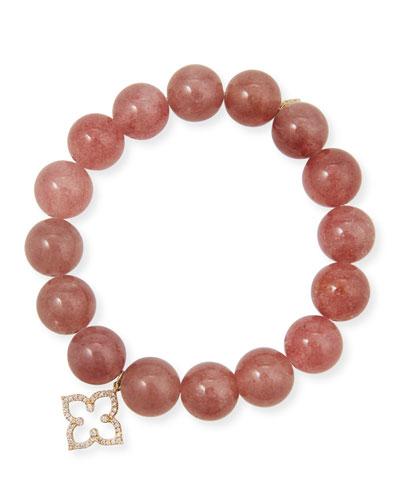 14k Muscovite & Moroccan Star Bracelet