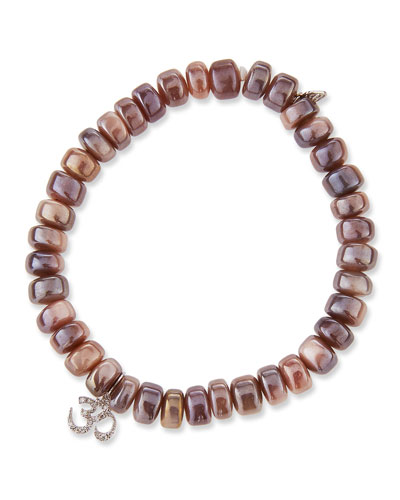 Mauve Moonstone & Diamond OM Bracelet