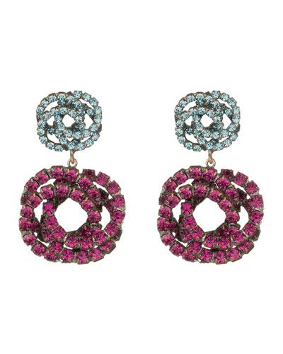 Chrysanthe Berry Crystal Drop Earrings