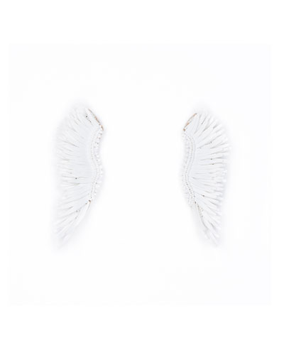 Mignonne Gavigan Madeline Matte Statement Earrings, White
