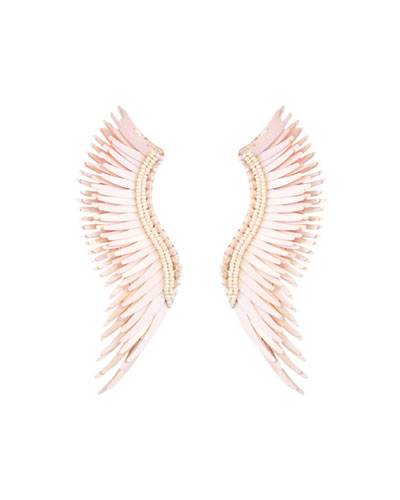 Mignonne Gavigan Madeline Matte Statement Earrings, Mauve