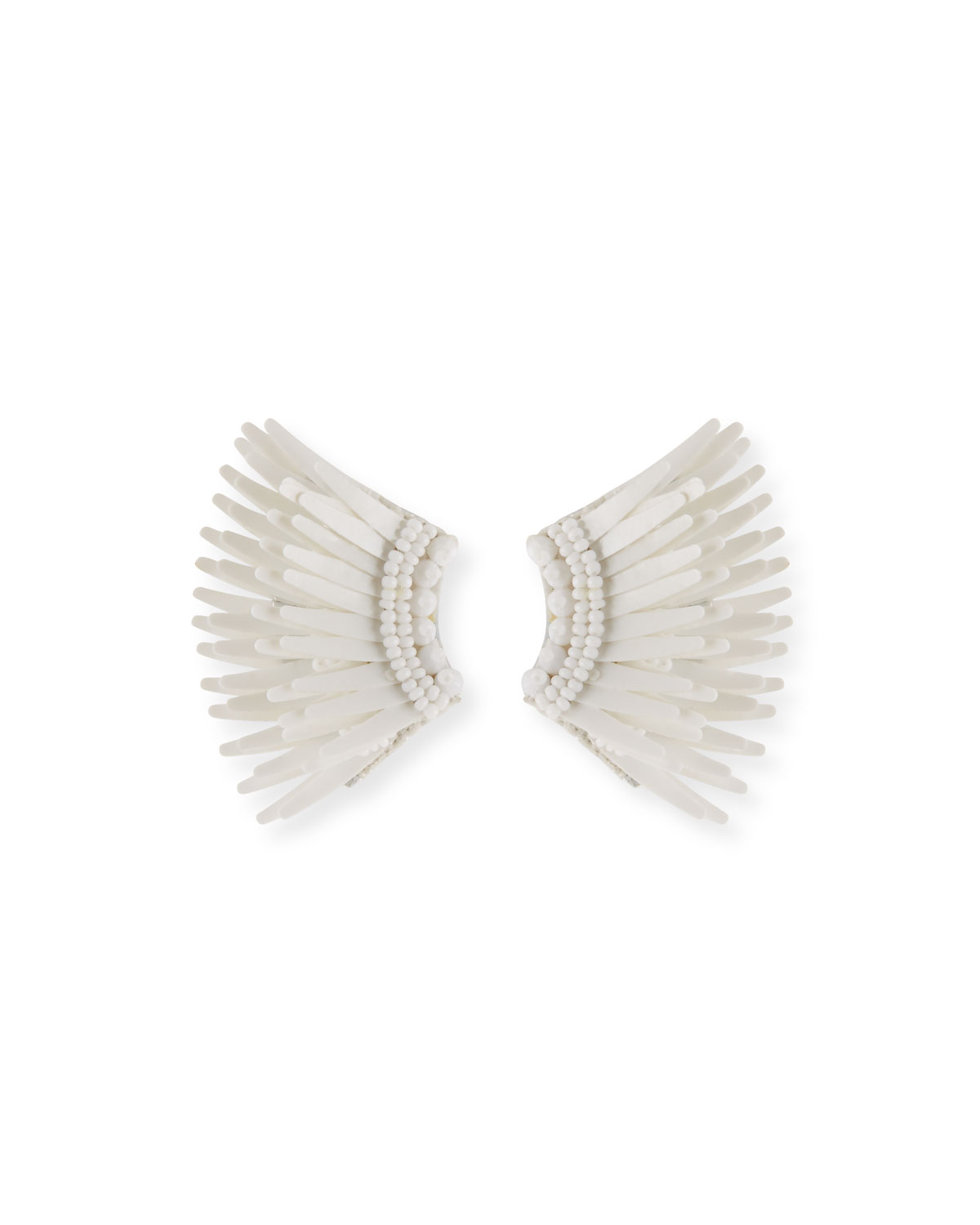 Mignonne Gavigan Madeline Mini Matte Earrings, White, WHITE