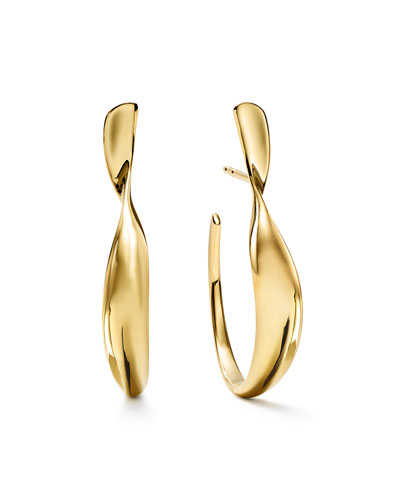 18k Classico Small Twisted Ribbon Hoop Earrings