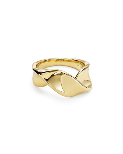 18k Classico Twisted Ribbon Ring