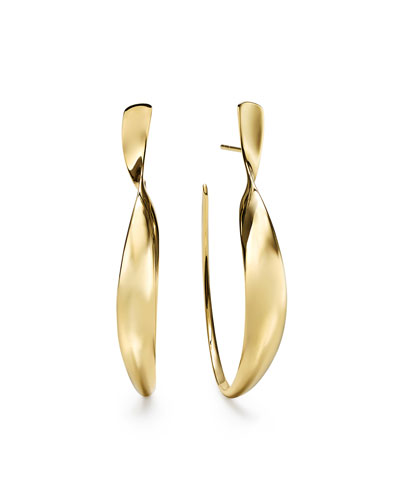18k Gold Classico Twisted Ribbon Hoop Earrings