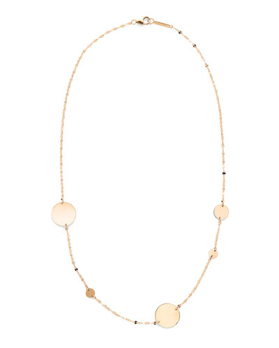 14k Gold Cleo Disc Necklace