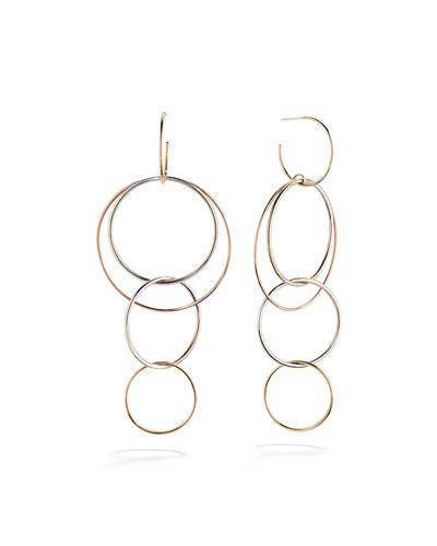 14K Gold Bonded Wire Hoop Earrings