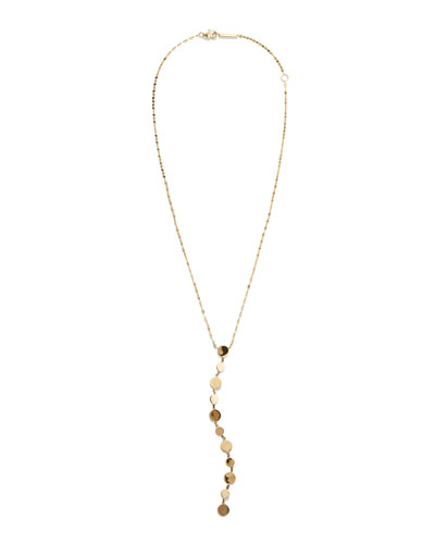 Legacy 14k Gold Disc Y-Drop Necklace