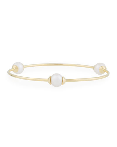 18K Gold Nova 3-Station Bangle Bracelet
