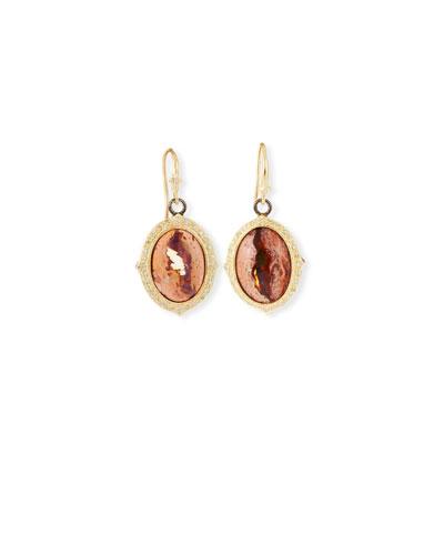 Old World Mexican Fire Opal Dangle Earrings