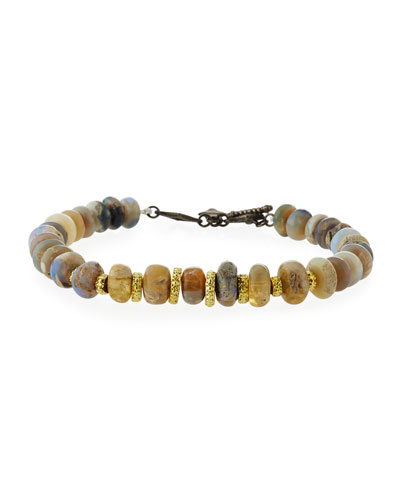Old World Boulder Opal Beaded Bracelet