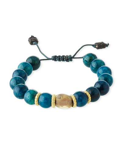 Old World Apatite & Opal Bead Pull-Through Bracelet