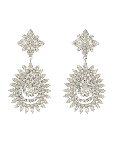 Lea Crystal & Pearly Statement Earrings