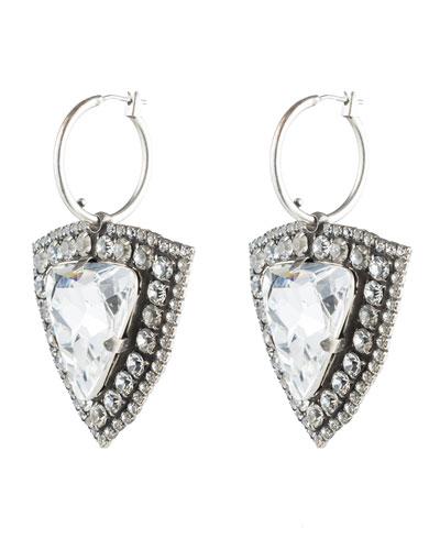Dannijo Portner Crystal Hoop Drop Earrings