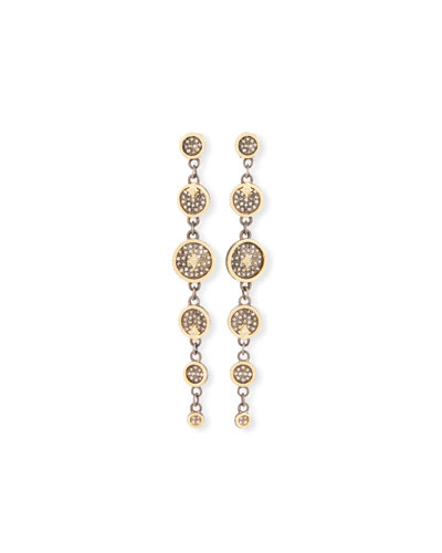 Old World Diamond Multi-Disc Drop Earrings