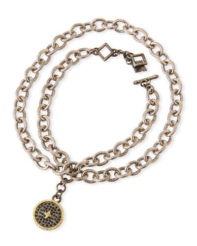 Old World Chain-Wrap Diamond Disc Bracelet