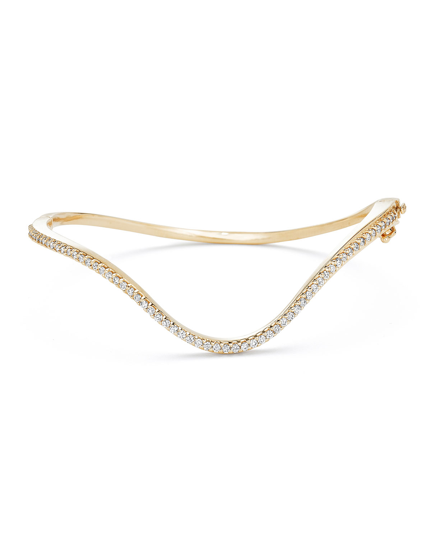 PAIGE NOVICK 18K Gold Infinity Curved Diamond Hinge Bracelet