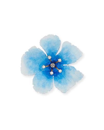 Jennifer Behr Thalia Crystal Flower Brooch