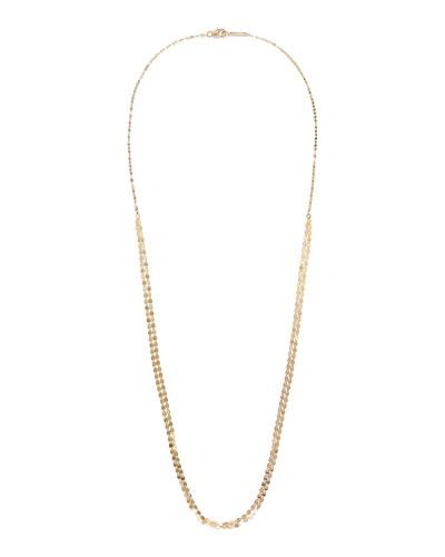14k Gold Nude Petite Long Necklace, 24