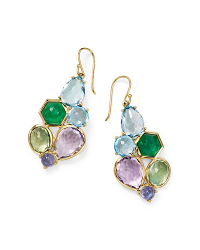 Rock Candy 6-Stone Cluster Earrings in Hologem