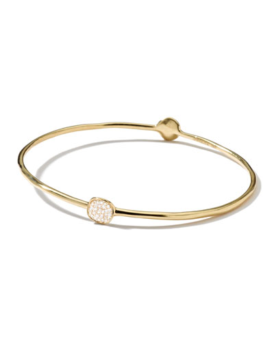 Stardust Two-Flower Gold Diamond Bangle