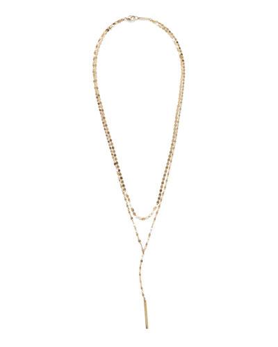 14k Gold Nude Blake Layered Lariat Necklace