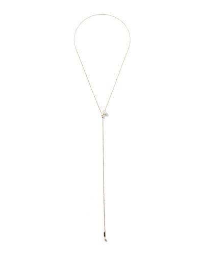 Mizuki 14k Gold Pearl Slider Necklace