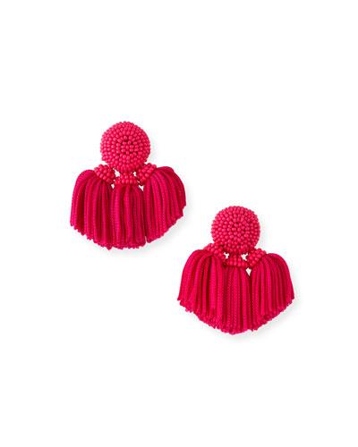 Mini Cha Cha Clip-On Tassel Earrings