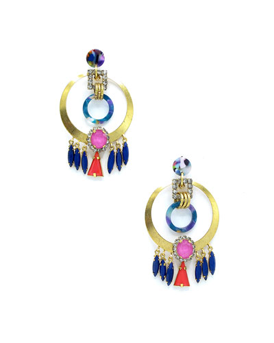 Colla Hoop Drop Earrings