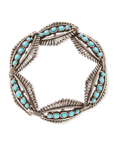 Mini Cabochon-Link Bracelet, Turquoise