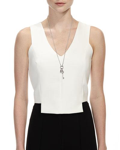 Secret Triple-Charm Pendant Necklace