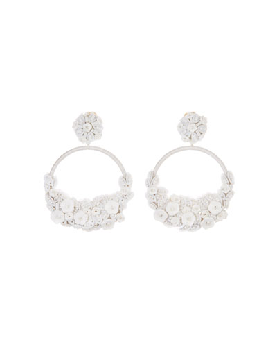 Oscar de la Renta Embellished Flower Clip-On Hoop