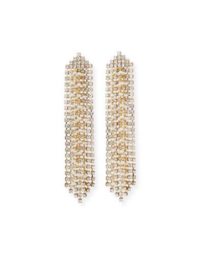 Gelo Pearl & Crystal Dangle Earrings