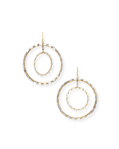 Cristallo Pearl & Crystal Hoop Earrings