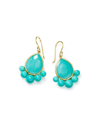 Nova 18k Gold Turquoise Pear Drop Earrings