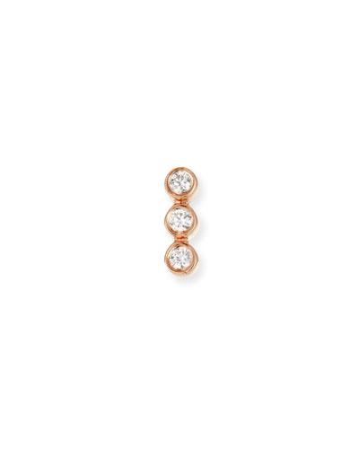 575a3dd32 14k Rose Gold Triple Diamond Earring (Single)