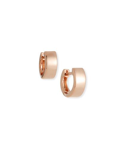 14k Rose Gold Jumbo Huggie Earrings