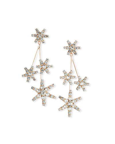 Saros Crystal Starburst Earrings