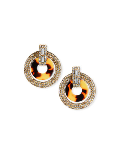 Linnea Crystal & Acetate Hoop Drop Earrings