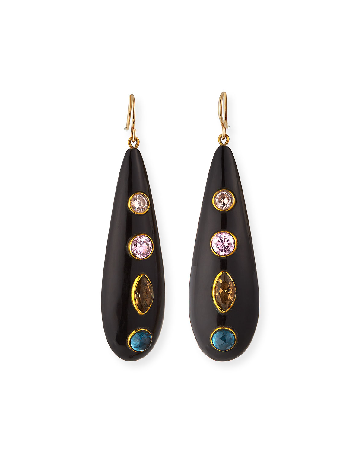 Ashley Pittman  UPENDO DARK HORN EARRINGS
