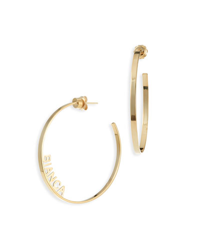 Ciara Personalized Hoop Earrings