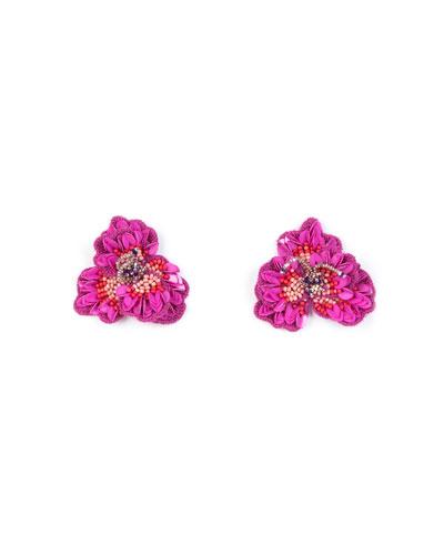 Mignonne Gavigan Sasha Beaded Silk Stud Earrings