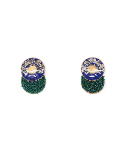Mignonne Gavigan Caviar Beaded Stud Earrings