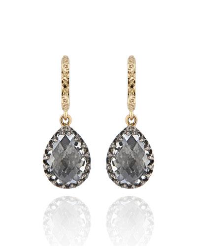 Lady Jane Small Pear Drop Huggie Earrings, Dove