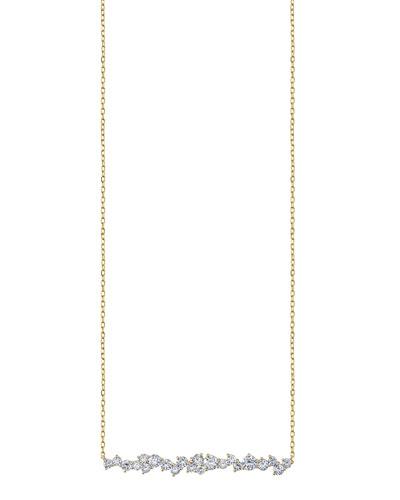 14k Diamond Cocktail Bar Necklace
