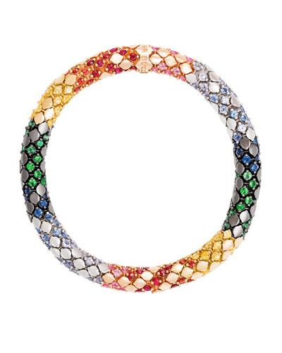 Twister Luxe 18k Gold Medium Rainbow Bracelet