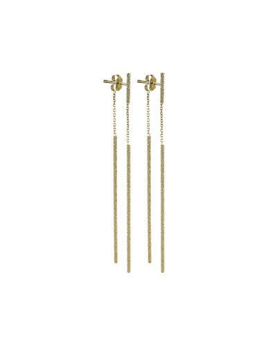 Florentine 18k Gold Magic Wand Earrings