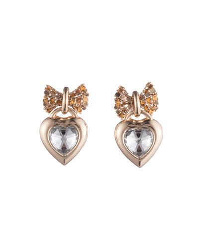 Elora Crystal Heart Drop Earrings