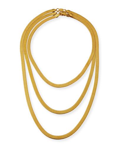 Triple Herringbone Necklace